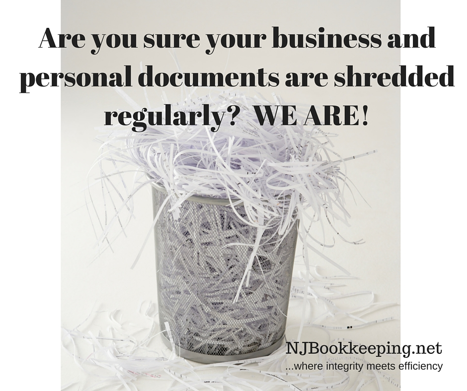 Are you sure your business and personal documents are shredded regularly- WE ARE!